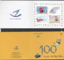 ALBANIA, 2012, MNH, POST, TELEGRAPHS, TELEPHONES. 100TH ANNIVERSARY OF ALBANIAN POST, BOOKLET - Posta