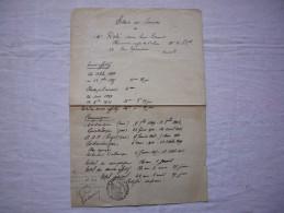 Etat Des Services De Mr Rosé Pharmacien Major 23 Rég Infanterie Coloniale Daté 1926 Campagnes  Martinique Cochinchine .. - Documents