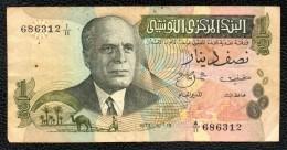 1/2 Dinar - Tunisie
