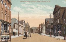 Charlotte Street, Looking North, Sydney, C.B. (Animation, Valentine & Sons) - Cape Breton