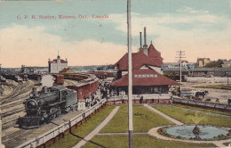 C.P.R. Station, Kenora, Ont. (train, Top Animtation, Canadian Pacific Railway News Service, 1919) - Ontario
