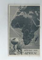 Afrique (Militaria) : Parcours Du Bateau Militaire Aviso Gazelle Autour De L'Afrique + Portrait Afri En 1945 (animé) PF. - Manovre