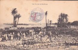 Type BLANC  N° 20 Du Maroc  Cachet Campagne Du Maroc En Violet  Sur CP Les Sources De Ain Guicer - Morocco (1891-1956)