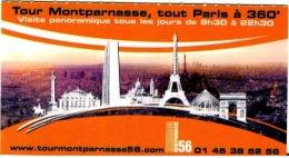 France  2012,  Paris Tour Montparnasse - Eintrittskarten