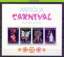 Mww044b FAUNA VLINDERS CARNAVAL BUTTERFLIES SCHMETTERLINGE MARIPOSAS PAPILLONS BARBUDA 1977 PF/MNH # - Carnaval
