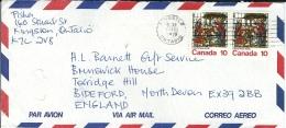 Canada 1976 - Lettre Départ De Kingston (Ontario) Via Bideford  (Angleterre) - Poste Aérienne