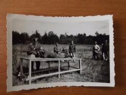 LA FERTE VIDAME 28 EURE ET LOIR WW2 SOLDATS ALLEMANDS TIR CARABINE RARE  VOIR DOS ENTRAINEMENT. - 1939-45