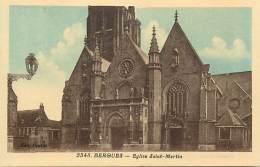 - Nord - Ref A548 - Bergues - Eglise Saint Martin - Carte Bon Etat - - Bergues