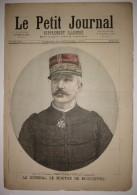 Le Petit Journal N°151 Du 14/10/1893 Le Général Le Mouton De Boisdeffre - Le Port De Toulon - 1850 - 1899