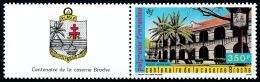 POLYNESIE 1987 - Yv. PA 196 ** TB + Vignette  Cote= 13,00 EUR - Caserne Brache ..Réf.POL22894 - Poste Aérienne