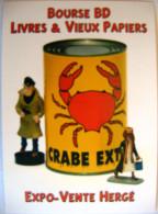 BD Tintin Bourse Strasbourg Livre Le Crabe Aux Pinces D'or - Stripverhalen
