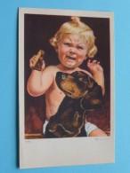Huilend KIND Met Hond - N° 21084 Made In Belgium ( 9 X 14 Cm. - 12 Stuks / Zie Foto´s ) !! - Etiquettes