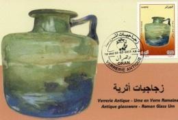 Algeria N. 1653/5 Vetreria D'epoca Urna Di Vetro Romano Romano Antichità Archeologia Vetri Vetrate - Vetri & Vetrate
