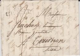 Marque Postale De Crest (Drôme) De 1829 PD 36X14 Tm3 N - 1801-1848: Précurseurs XIX