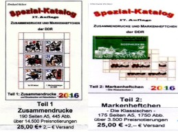 DDR Katalog #1 Zusammendrucke Plus #2 Markenhefte 2016 Neu 50€ Von RICHTER Se-tenants+booklets Special Catalogue Germany - Literatur
