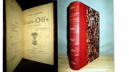 «SOUS-OFFS» (ROMAN MILITAIRE) Lucien DESCAVES Antimilitarisme Reliure Cuir 1889 ! - Books, Magazines, Comics