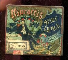 BTDIV1 Boite Lithographiée En Métal  8,7cm X 7,2cm Cigarettes Murattis - Boîtes