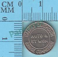 Halifax-Dartmouth-Bridge-Commission-transit-token-Nova-Scotia Canada - Auto & Station Wagon - 2 Scans - Jetons & Médailles