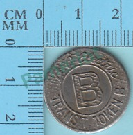 British Culombia Canada - B.C. Electric Transit Token With A B To Be Sold To Passengers - 2 Scans - Non Classés