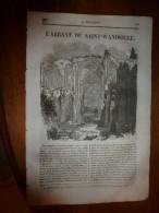 1835 LM : Abbaye De St-Wandrille , Près De Jumiégues;Bataille De SEMPACH (Suisse Libérée);Un Chevalier Du XIe Siècle - Vieux Papiers