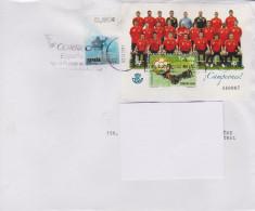 ESPAGNE, Champions D'Europe De Football 2008, Sur Lettre 2011 - Championnat D'Europe (UEFA)