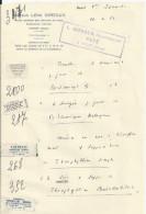 NOCE ORNE DOCTEUR LEON GIREAUX ET PHARMACIEN AVEC VIGNETTES DE MEDICAMENTS ANNEE 1962 - France