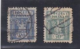 POLOGNE    Y. T.  N° 163   166     Oblitéré - 1919-1939 Republic