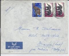 CONGO BELGE - 3 TIMBRES SUR ENVELOPPE POUR EREZEE LUXEMBOURG ET PAR MELREUX BELGIQUE - Sin Clasificación
