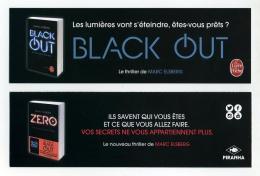 Marque-page Black Out Et Zero, Par Marc Elsberg Aux éditions Le Livre De Poche Et Piranha - Marque-Pages