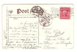 US Stamp On PC National Santa Claus Series C.San Francisco 1908 To China Railway Chan Si Pekin&Shangai PR3085 - Etats-Unis