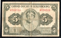 5 Francs - Luxembourg