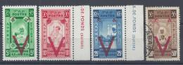 ETHIOPIE - 1945 -  CROIX ROUGE SURCHARGES V EN ROUGE - N° 240 à 243 - X - XX - O - B/TB - - Ethiopie