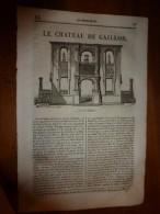 1835 LM : Château De Gaillon;Origine De La Sténo;La Ketmie;PRUD'HON De Cluny;Almanach Chinois;Avanie Faite Aux JUIFS - Vieux Papiers