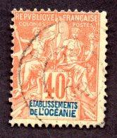 Océanie N°10 Oblitéré TB Cote 100 Euros !!! RARE - Océanie (Établissement De L') (1892-1958)