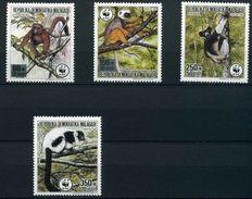 WWF Madagascar Malagasy Primates In Peril Lemures Lemur Lemuren Madagaskar 1988 4v MNH - Unused Stamps
