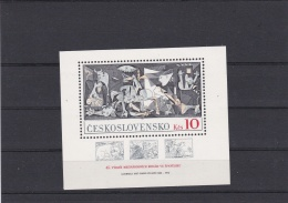 Ceskoslovensko Picasso Guernica Minisheet 1973 MNH/** (G84-45) - Arte