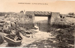 CARNAC CARNAC-PLAGE LE PONT DE PORT-EN-DROU ANIMEE - Carnac