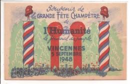 94 - VINCENNES - Fête Champêtre De L'Humanité: 1948 - Vincennes