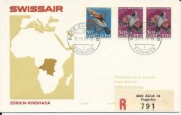 RF 70.1, Swissair, Zurich - Kinshasa,  DC-8, 1970 - Zaïre