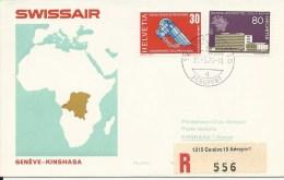 RF 70.1, Swissair, Genève - Kinshasa,  DC-8, 1970 - Zaïre