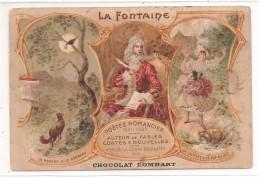 Publicité - Chocolat Lombart - La Fontaine: Carte Postale Cromo - Pubblicitari