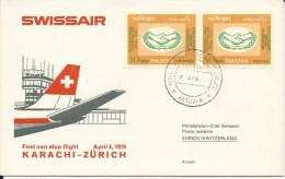RF 70.10, Swissair, Karachi - Zurich,  DC-8, 1970 - Pakistan