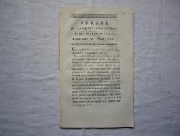 Arrêté Département De L'Isère 1793 Concernant Les Passe - Ports Passeports 18 Pages - Decretos & Leyes