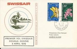 RF 70.6, Swissair, Douala - Genève,  Coronado, 1970 - Cameroun (1960-...)