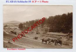 FLABAS Schlucht-Camp-Positions-1x Carte Photo + 1 Photo Allemandes-GUERRE 14-18-1 WK-Militaria-France-55- - Guerra 1914-18