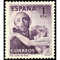 ES1070STV-LFT1961-CE101.España.Es Pagne.Spain.SAN  JUAN  DE DIOS.1953.(Ed 1070*)sin Charnela. - 1951-60 Nuevos & Fijasellos