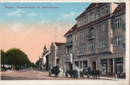 MEMEL - OSTPRUSSE  -  ALEXANDERSTRASSE MIT APOLLO-THEATER - Juin 1916