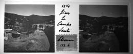 Plaque  De Verre  Stéréoscopique - Italie - Gênes - Le Campo  Santo  En  1914 - Glasplaten