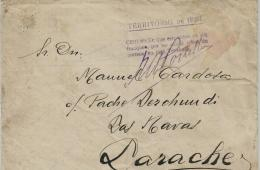02270 Carta Enviada De Ifni A Larache Con Rara Franquicia - Ifni
