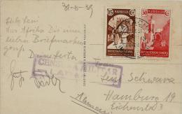 02288 Marruecos Español Postal Con Censura Larache Enviada A Hamburgo - Marruecos Español